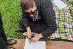 Impression végétale sur tissu éphémère Atelier animé par Vanessa