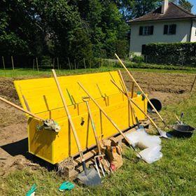 Coffret à outils du jardin